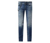 Tapered Fit Jeans mit Stretch-Anteil Modell 'Iggy'