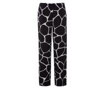 Stoffhose mit stilisiertem Giraffenmuster