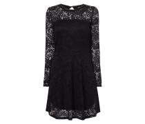 Tailliertes Kleid aus ornamentaler Spitze