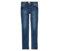 Stone Washed Slim Fit Jeans mit Pailletten-Besatz