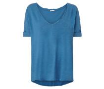 Shirt mit weitem V-Ausschnitt