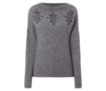 Pullover mit Ziersteinbesatz