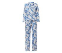 Pyjama aus Popeline mit Palmen-Prints