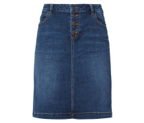 5-Pocket-Jeansrock mit Kontrastnähten