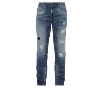 Skinny Fit 5-Pocket-Jeans im Destroyed Look