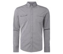Slim Fit Freizeithemd mit feinem Streifenmuster