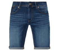 Tapered Fit Jeansbermudas