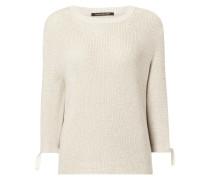 Pullover mit abnehmbarem Kontrastbesatz