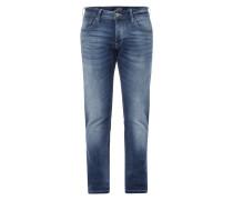Stone Washed Slim Fit 5-Pocket-Jeans