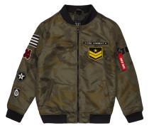 Bomber mit Camouflage-Muster - wattiert