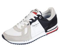 Sneaker aus Leder mit Kontrasteinsatz