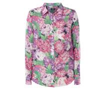 Bluse mit Seide und floralem Muster