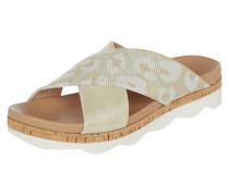 Sandalen aus Leder und Textil