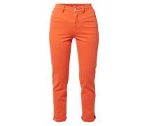 Coloured Jeans mit verkürztem Bein