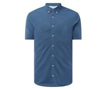 Slim Fit Business-Hemd aus Piqué - 'Futureflex'