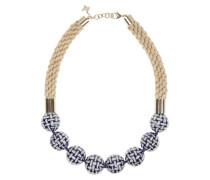 Halskette mit großen Keramikperlen