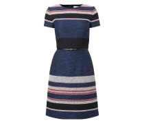 Kleid mit eingewebtem Streifenmuster
