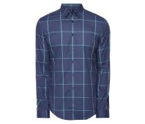 Slim Fit Business-Hemd mit Fensterkaro