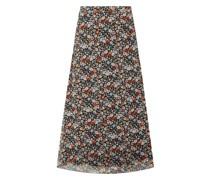 Midirock mit floralem Muster Modell 'Anias'
