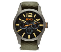 Uhr aus Edelstahl mit Textil Armband