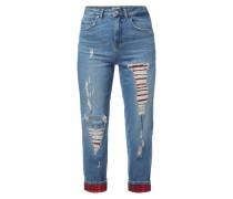 High Waist Destroyed Jeans Gigi Hadid