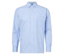 Comfort Fit Business-Hemd mit Gitterkaro