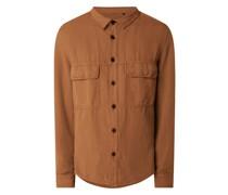 Regular Fit Leinenhemd mit Brusttaschen Modell 'Seled'
