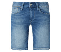 Coloured Jeansshorts mit Stretch-Anteil