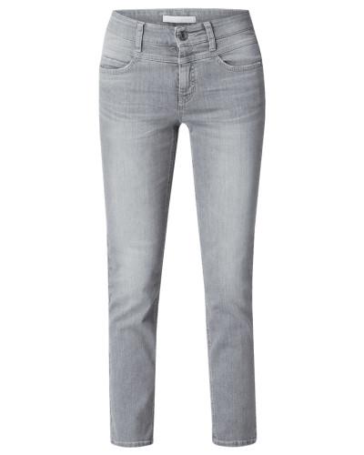 Slim Fit Jeans mit Logo-Applikation