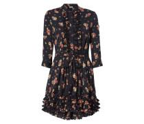 Kleid mit Rüschen und floralem Muster