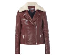 Biker-Jacke aus genarbtem Leder