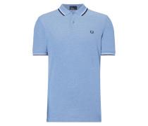 Poloshirt mit kontrastfarbenen Streifen