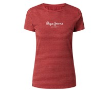 T-Shirt mit Streifenmuster Modell 'Mahsa'