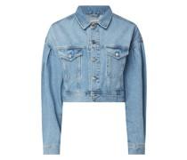 Cropped Jeansjacke aus Baumwolle
