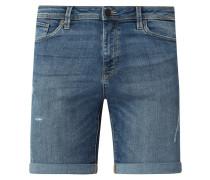 Slim Fit Jeansshorts mit Stretch-Anteil Modell 'Halex'