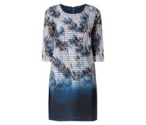 Kleid mit Dip Dye und floralem Muster