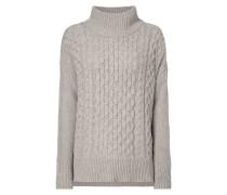 Pullover mit breitem Stehkragen