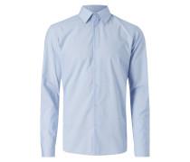 Regular Fit Business-Hemd mit Vichy Karo