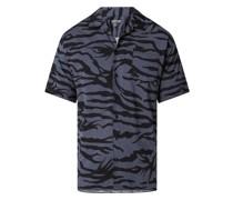 Slim Fit Freizeithemd aus Baumwoll-Viskose-Mix mit kurzem Arm Modell 'Mornay'