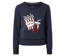 Boxy Fit Sweatshirt mit Motiv aus Pailletten