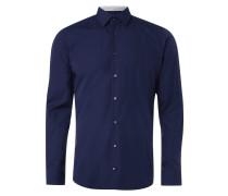 Slim Fit Business-Hemd mit gemusterten Details