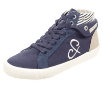 High Top Sneaker aus Veloursleder und Textil