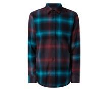 Regular Fit Flanellhemd aus Baumwolle Modell 'Relegant'