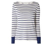 Pullover mit Streifenmuster und Schnürungen