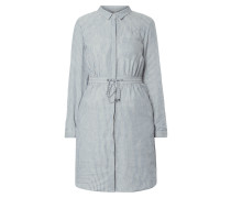 Blusenkleid aus Leinen-Baumwoll-Mix