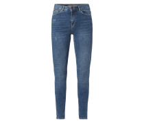 Super Slim Fit Jeans im Used Look