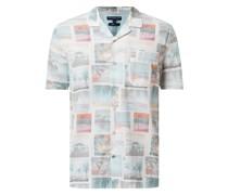 Slim Fit Freizeithemd aus Baumwolle mit kurzem Arm