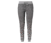 Sweatpants mit Leopardenmuster