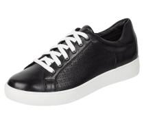 Sneaker aus Leder mit perforiertem Muster