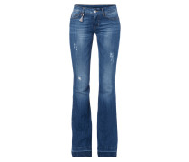 Flared Cut Jeans im Used Look